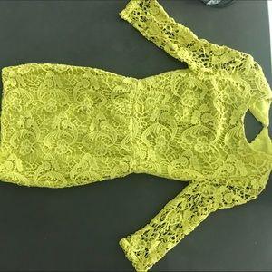 Lace Dress Yellow